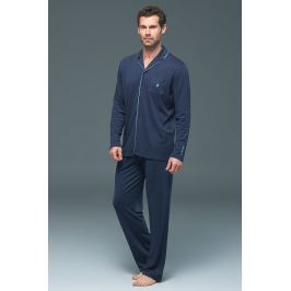 Pijama barbateasca BLACKSPADE Lion Navy, din modal