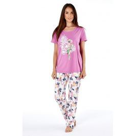 Pijama dama Parrot pink, din bumbac