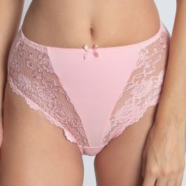 Chilot Pink Lace clasic, talie inalta