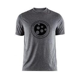 Tricou CRAFT Melange Graphic gri-inchis