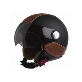 Casca motocicleta Open-Face Richa Rome, marime M, culoare Negru mat