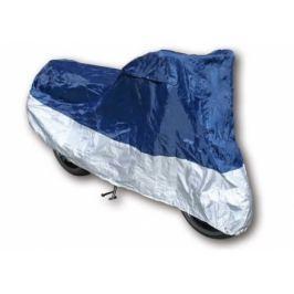 Husa motocicleta, marime L, albastru/argintiu