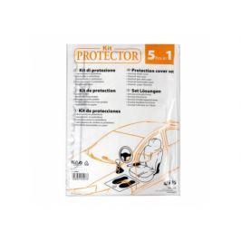 Kit huse protectie 5 bucati (scaun, volan, picioare, schimbator, frana de mana)