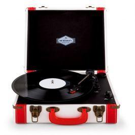 Auna Jerry Lee Retro Record Player Turntable LP USB White