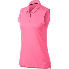 Nike Womens Dry Polo Sl Sunset Pulse/Flt Silver S
