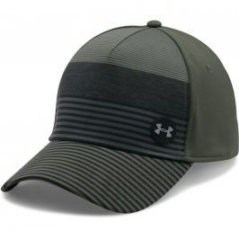Under Armour Men's Golf Striped Out Cap Downtown Green/Black/Steel M/L