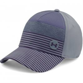 Under Armour Men's Golf Striped Out Cap Steel/Gooseberry Purple M/L
