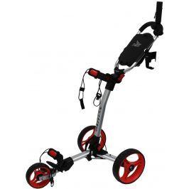 Axglo TriLite 3 wheel trolley silver/red