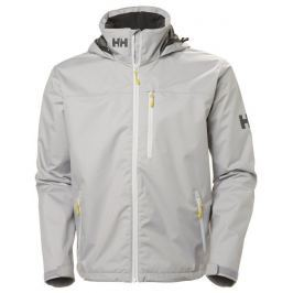 Helly Hansen CREW HOODED JACKET - SILVER GRAY - XL