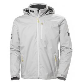 Helly Hansen CREW HOODED MIDLAYER JACKET - SILVER GRAY - XXXL