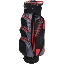 Spalding 9.5 Inch Waterproof Cart Bag Black Red Grey