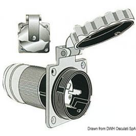 Osculati Marinco 3-wire bipolar monophase socket 32 A 220 V