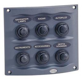 Hella 8514 6 Way Compact Switch Panel Gray