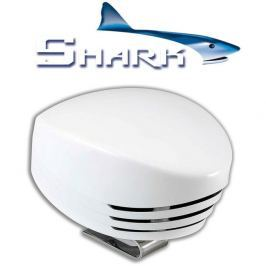 Marco SHARK Single horn, white plastic, blister