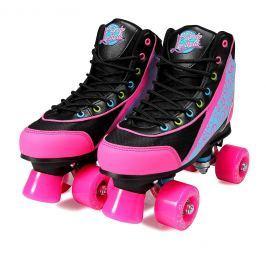 Luscious Skates Disco Diva size 35/36 black/pink
