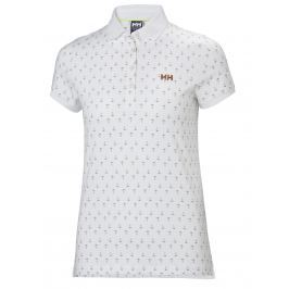 Helly Hansen W NAIAD BREEZE POLO WHITE ANCHOR - L