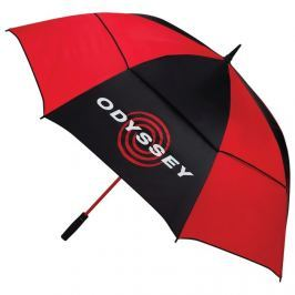 Callaway 68'' Auto Open Double Canopy Umbrella Black/Red 2018