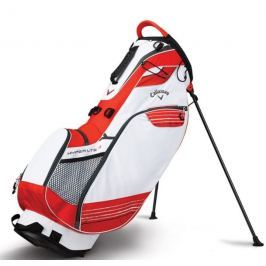 Callaway Hyper Lite 3 Carry Stand Bag White/Orange/Titanium 2018