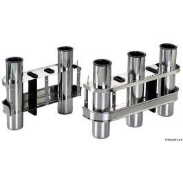 Osculati SS rod holder for bulkhead mounting 2 rods - stainless steel