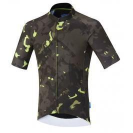 Shimano Breakaway Short Sleeve Jersey Neon Lime L