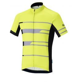 Shimano Team Short Sleeve Jersey Neon Yellow XL