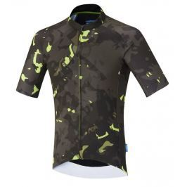 Shimano Breakaway Short Sleeve Jersey Neon Lime XL