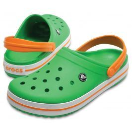 Crocs Crocband Clog Green/White/Blazing Oran 39-40
