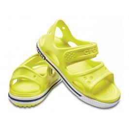 Crocs Crocband II Sandal PS Tennis Ball Green/White 29-30