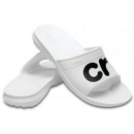 Crocs Classic Graphic Slide Unisex Adult White/Black 38-39