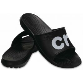Crocs Classic Graphic Slide Unisex Adult Black/White 39-40
