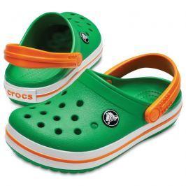 Crocs Crocband Clog Kids GGn/White/Blazing Orange 33-34
