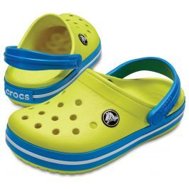 Crocs Crocband Clog Kids Tennis Ball Green/Ocean 20-21