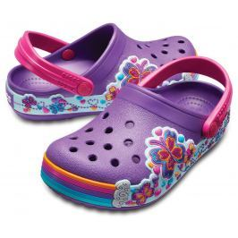 Crocs Crocband Fun Lab Graphic Clog Kids Amethyst-32-33
