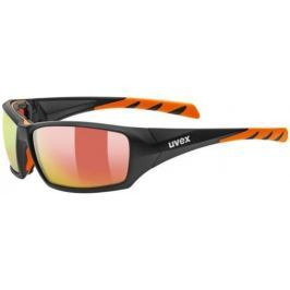 UVEX Sportstyle 308 Black Mat Orange-Mirror Orange S4