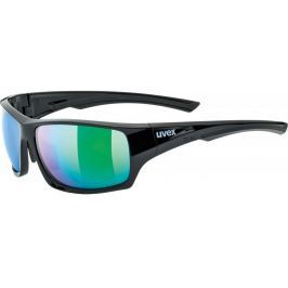 UVEX Sportstyle 222 Polarized Black Green-Polavision Mirror Green S3