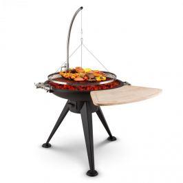 Blumfeldt Delion, grătar rotativ, recipient pentru foc, oțel inoxidabil