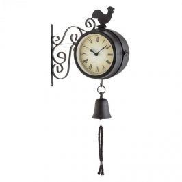 Blumfeldt 28x34x10cm timpurie Bird Gartenuhr Termometru Ceas Bell Retro