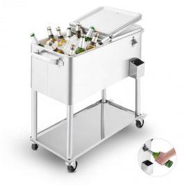Blumfeldt SpringBreak 2000, cărucior pentru băuturi, cutie de răcire, cărucior de răcie pentru terase, 80 L, oțel inoxidabil