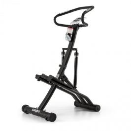 Klarfit Trepp, negru, Power Stepper, senzor de ritm cardiac, pliabil