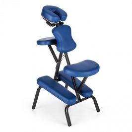 Klarfit MS 300 scaun de masaj, scaun pentru tatuat, 120 kg, geantă de transport, culoare albastră