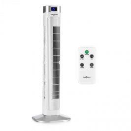 OneConcept Hightower 2 g, alb, 50 W, ventilator tip stâlp, temporizator