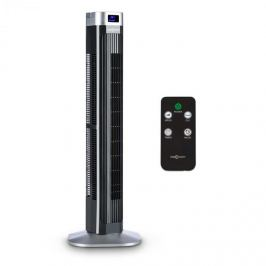 OneConcept Hightower 2Gventilator 50W 45 °oscilație , Control de la distanță. negru