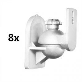 LUA SB-28 Speaker Stand Set de 8 alb <3.5 kg Home Theater HiFi
