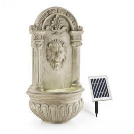 Blumfeldt Lowenstein, fântână de grădină ornamentală, fântănă de perete, 2W, LED-uri solare, aspect de piatră, polyresin