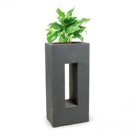 Blumfeldt Airflor, ghiveci pentru plante 45 x 100 x 27 cm din fibră de sticlă interior / exterior gri închis