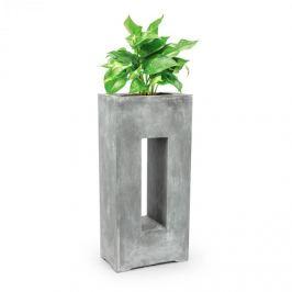 Blumfeldt Airflor, ghiveci pentru plante 45 x 100 x 27 cm din fibră de sticlă interior exterior gri deschis