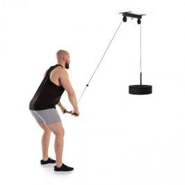 Klarfit Hangman, scripete, instalare pe tavan, bară pentru triceps, cablu de 2 m, culoare neagră