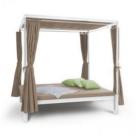 Blumfeldt Senator Lounge, pat de grădină cu pergolă 188x208x205cm maro