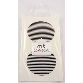 Set 10 autocolante washi MT Masking Tape Casa, negru - alb