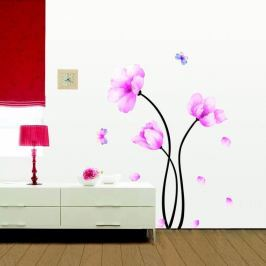 Set autocolante Ambiance Pink Flowers And Butterflies